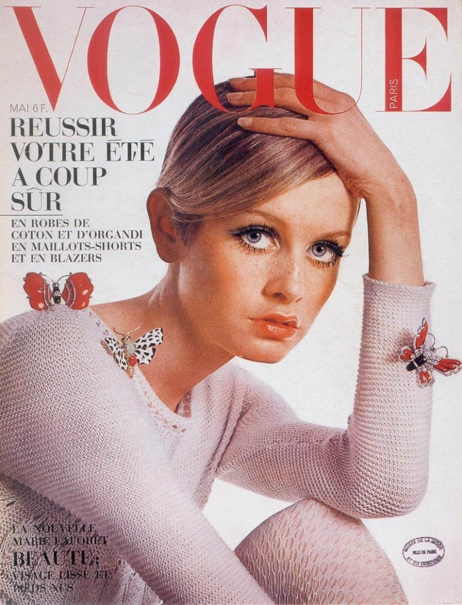 Twiggy Vogue Cover 1967