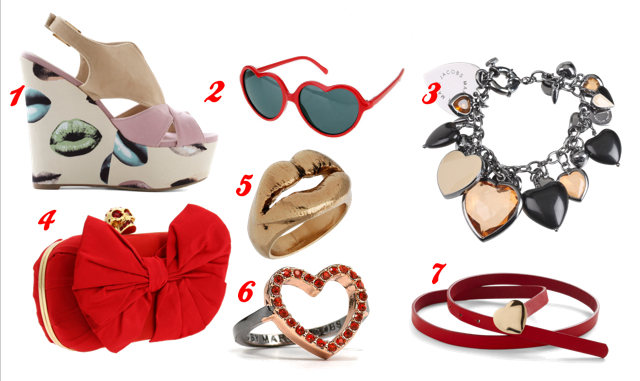 Hearts, love, lips, bows and more.... Valentine's Day accessories