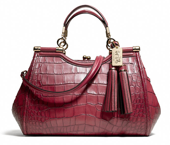 MADISON CARRIE IN CROC EMBOSSED LEATHER