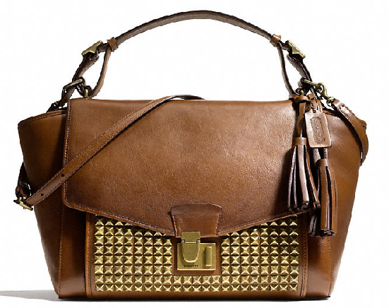 LEGACY ARCHIVAL LOCK SATCHEL IN STUDDED LEATHER