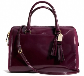 LEGACY PINNACLE LARGE HALEY SATCHEL IN POLISHED CALF LEATHER WITH FELT