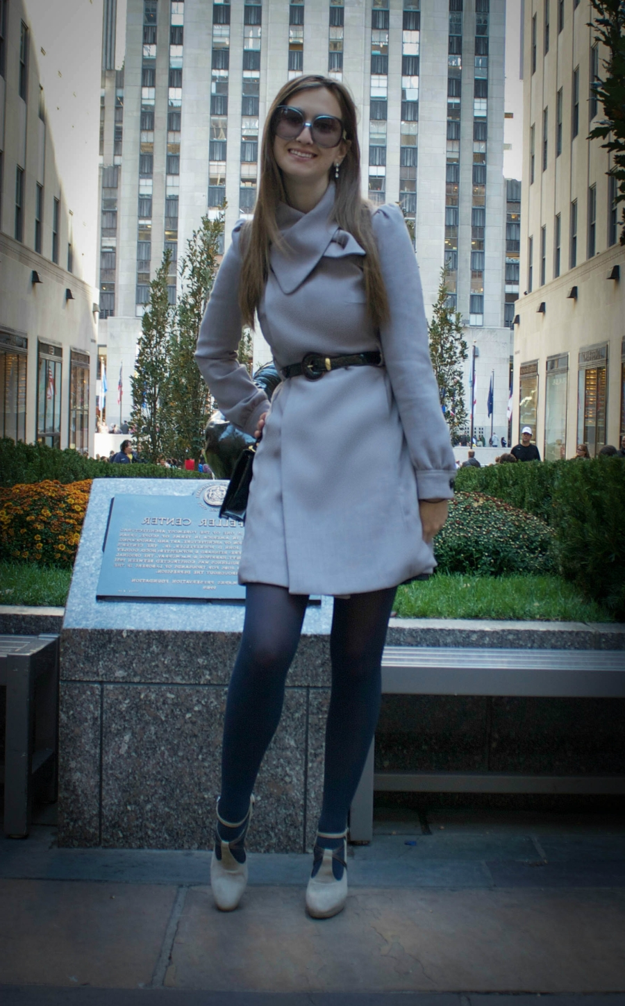 Coat: Chanel, kicks: Max Mara, bag: Gucci, shades: Marni