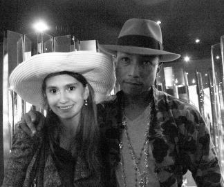 Casually chilling with Pharrell Williams at Fendi Casa for Art Basel!
