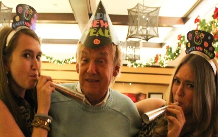 Celebrating NYE 2013 with my dad and Michelle.
